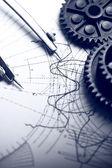 Mechanische ratelsleutels, scheidingslijnen en opstelling — Stockfoto