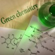Green chemistry with reaction formula — Stock Photo #24083939