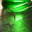 Green chemistry with reaction formula — Stock Photo #24083967