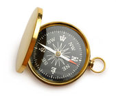 Golden vintage compass — Stock Photo