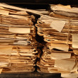 Paper documents stacked in archive - Zdjęcie stockowe