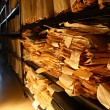 Paper documents stacked in archive - 