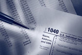 Tax form, operating budget and pen — Stock Photo