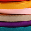 Stock Photo: Reels of ribbon on the white background