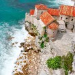 Stock Photo: old town in budva montenegro
