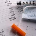 Budget, medical mask and syringe — Stock Photo #29296695