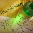 Green chemistry with reaction formula — Stock Photo #29296851