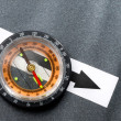 Compass on the grey background — Stock Photo