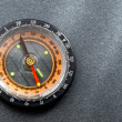 Stock Photo: Compass on the grey background