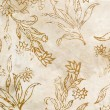 Stock Photo: Silk batik with abstract flowers