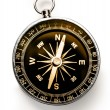 Foto Stock: Compass on white background