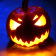 Stock Photo: Angry halloween pumpkin