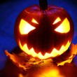 Angry halloween pumpkin — Stock Photo