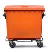 Blank refuse bin — Stock Photo