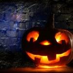 Funny halloween pumpkin — Stock Photo
