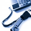Telephone receiver — Stock Photo