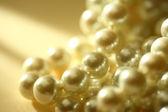 String of white pearl — Foto Stock