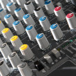 Stock Photo: Audio mixer equipment