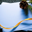 Paper cards and twig — Stockfoto #36977201
