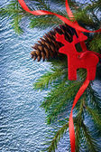 Background with fir and cone — Stock Photo