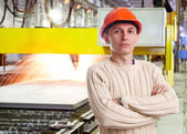 Foreman in the workshop — Stock Photo