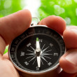 Stock Photo: Hand holding compass
