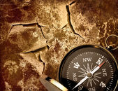 Compass on wall — Stock Photo