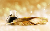 Feather quill — Stock Photo