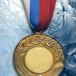 Stock Photo: Medal on ice