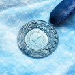 Medal on snow — Stock Photo #38083029