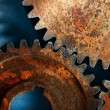 Stock Photo: Three steel cogwheels
