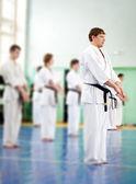 Lektion in Karateschule — Stockfoto