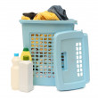 Stock Photo: Washing basket with detergent
