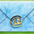 Email sign on envelope — Stock Photo #40275941