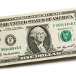 Dollar on white — Stock Photo