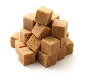 Cane sugar cubes — Stock Photo