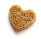 Slice of bread in heart — Stock Photo
