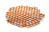 Scattering colored pearls — Stock Photo
