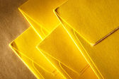 Blank yellow envelopes — Stock Photo