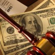 Wooden gavel and banknotes — Stock Photo #49008253