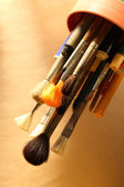 Paintbrushes and pens — Stock Photo