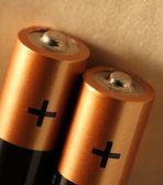 Dwie baterie — Zdjęcie stockowe