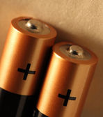 Two batteries — Stock Photo