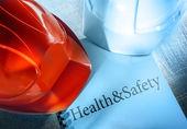 Zdrowia i bezpieczeństwa hełmy — Zdjęcie stockowe