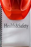 Salute e sicurezza con il casco — Zdjęcie stockowe