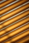 Brown metal jalousie — Stockfoto