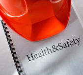 Health and safety with helmet — Zdjęcie stockowe
