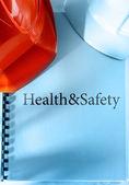 Health and safety with helmets — Zdjęcie stockowe
