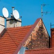 Stock Photo: Roof with red tiles.