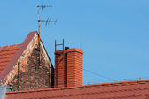 Roof with red tiles. — Stock Photo